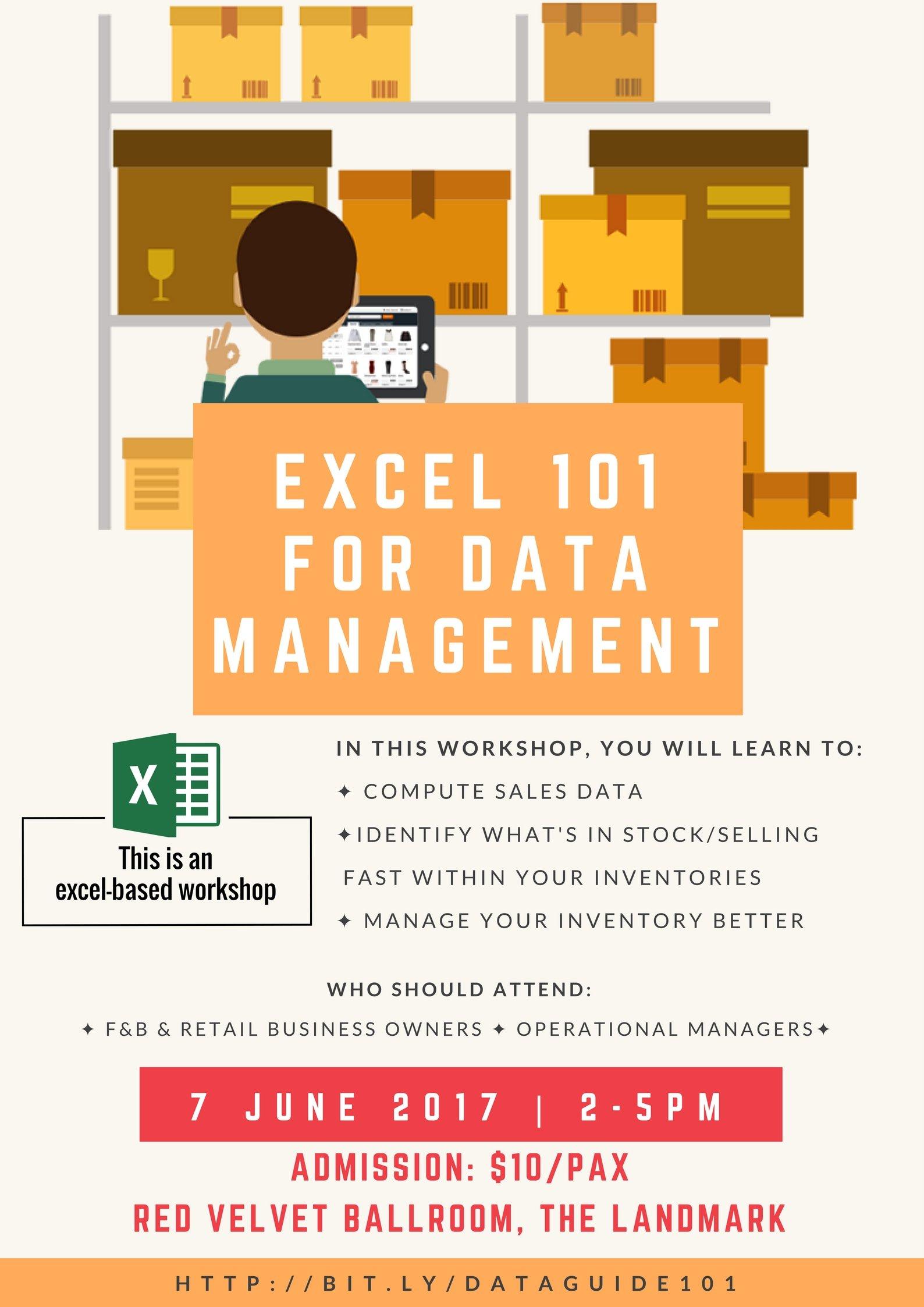 Excel 101 for Data Management