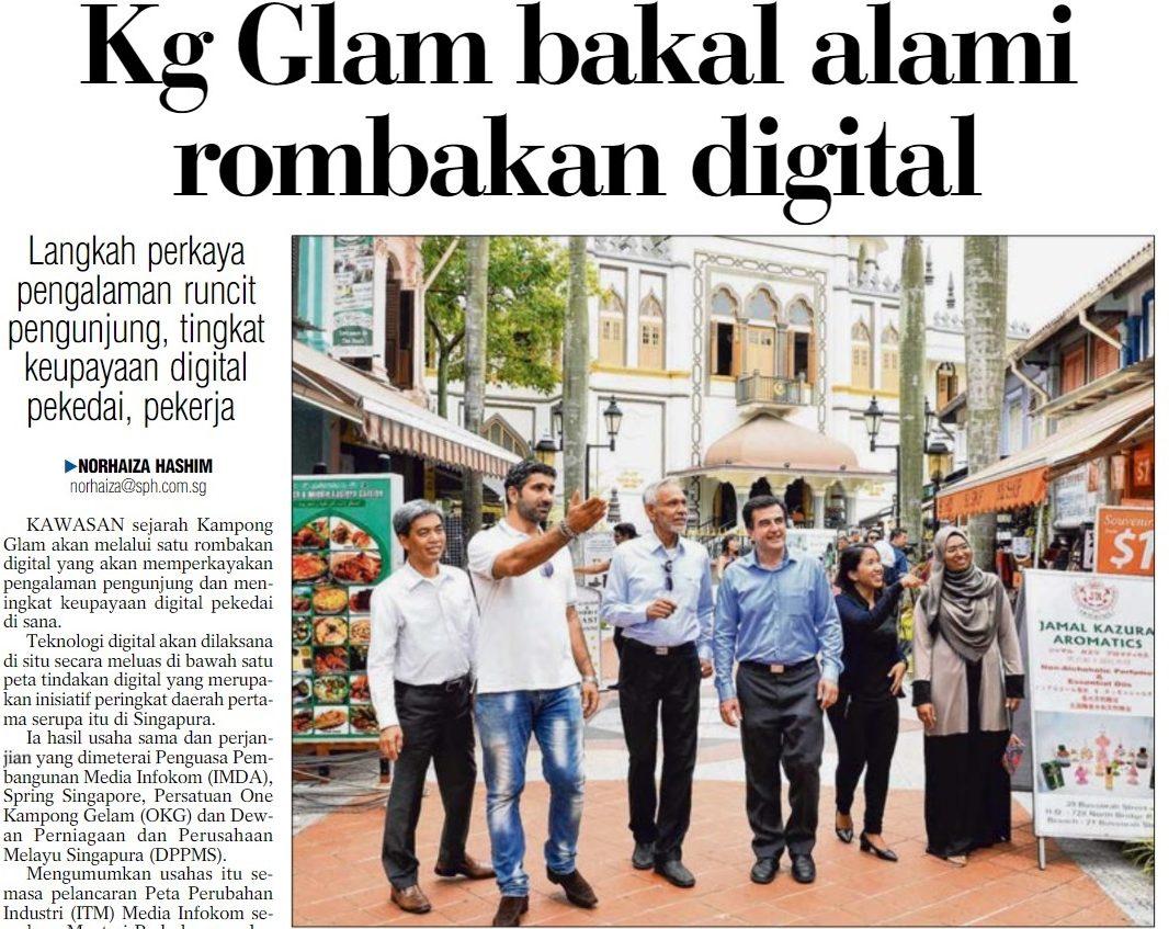 Kampong Glam bakal alami rombokan digital